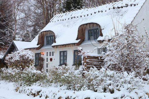 Danish cottage during the Winter