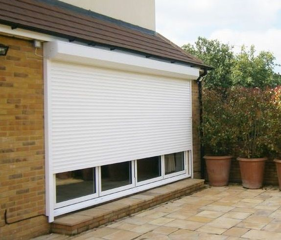 RSG5100 Continental Security Roller Shutters fixed externally to the entrance of the living room of a residential property in Central London