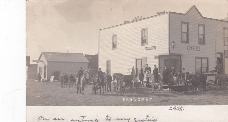 RP: Main Street , EARL GREY , Saskatchewan , Canada , PU-1907
