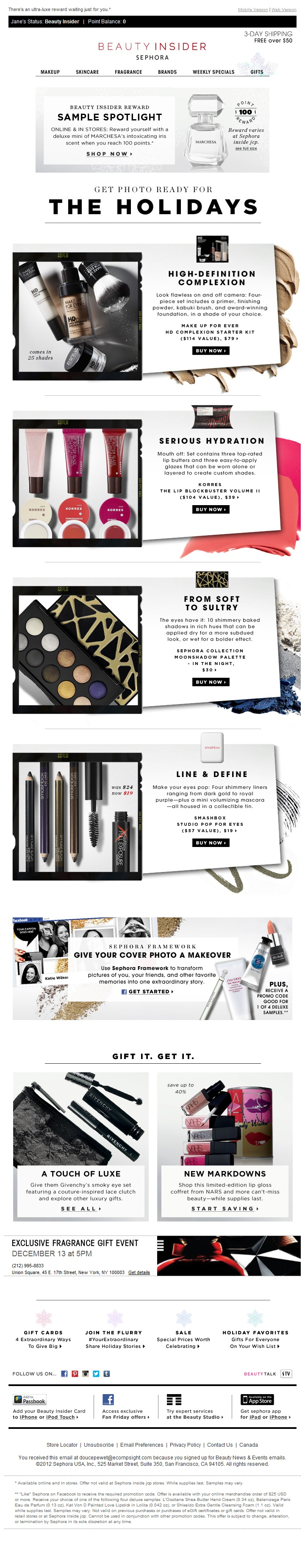 Get photo-ready for the holiday beauty #email #emailinspiration