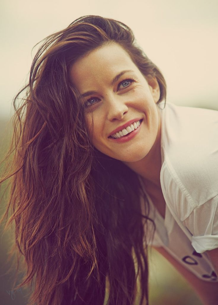 Liv Tyler (born 1st July 1977) Lovely face,thick tresses all smiles for Violet Grey July 2014