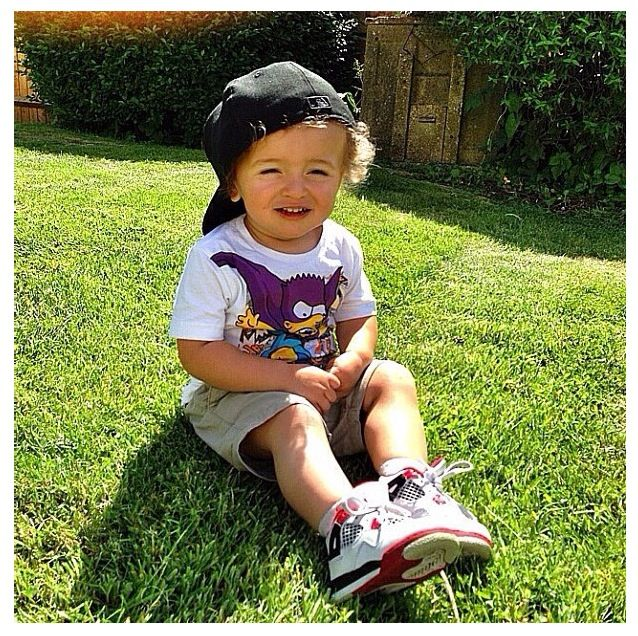 I love the fact he's wearing lil jordans ! ☺ | Adorable ...