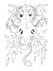 84 best dragons images on pinterest | coloring books, coloring ... - Chinese Dragon Mask Coloring Pages