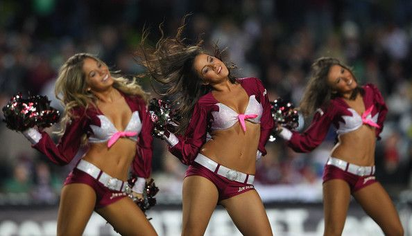 The Manly Sea Birds cheergirls entertain the crowd before the round 15 NRL match between the Manly Sea Eagles and the Melbourne Storm at Bro...