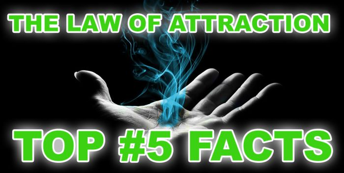 LESSON #5: Top #5 Facts about The Law of Attraction . Check it out: http://www.attractionlawsecret.com/2014/08/21/top-5-facts-law-of-attraction/