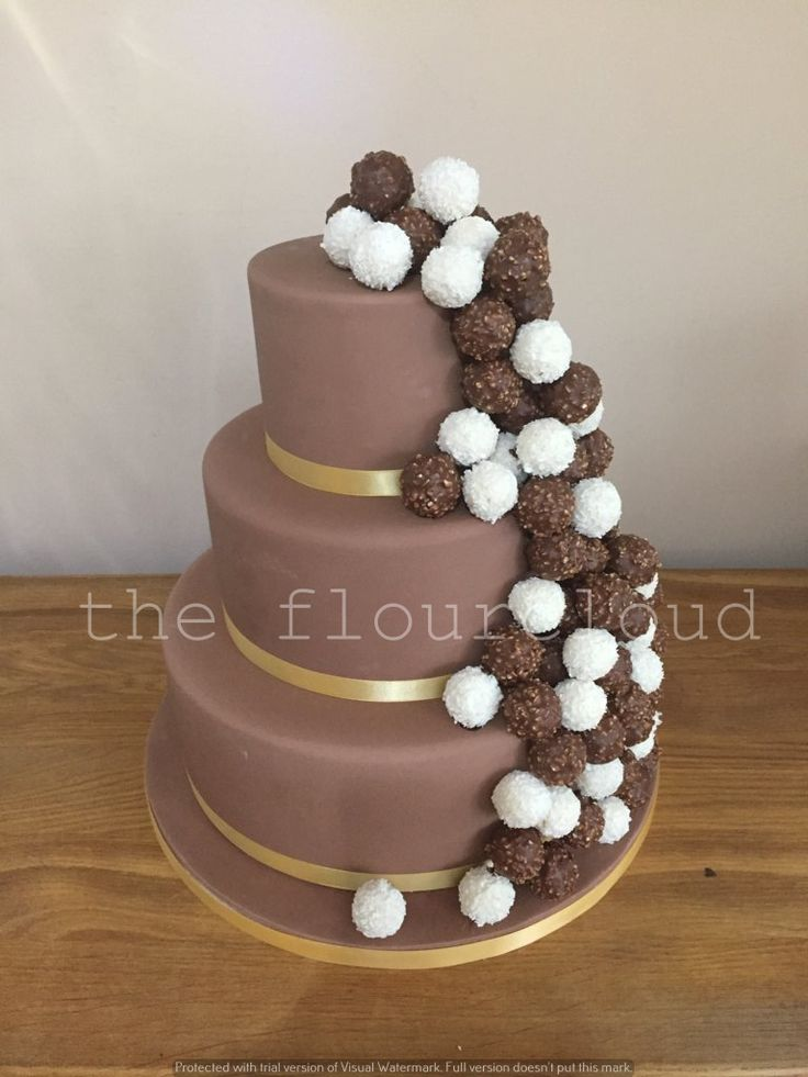 Ferrero Rocher Chocolate Wedding Cake My Perfect Day In