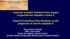 Noi tratamente in hepatita C cu si fara interferon
