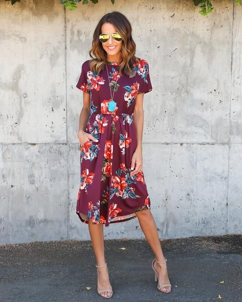 PREORDER - Girl About Town Dress - Burgundy