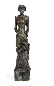 GAUGUIN la petite parisienne ou Dame en promenade fin 1880 25cm de haut, laurier des tropics