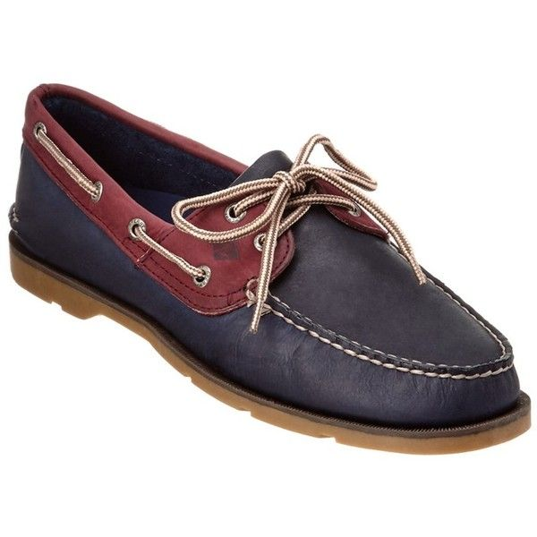 Sperry Sperry Leeward 2-Eye Leather Boat Shoe ($52) ❤ liked on Polyvore featuring men's fashion, men's shoes, men's loafers, blue, shoes, mens leather deck shoes, mens leather shoes, mens leather boat shoes, mens blue shoes and sperry mens shoes