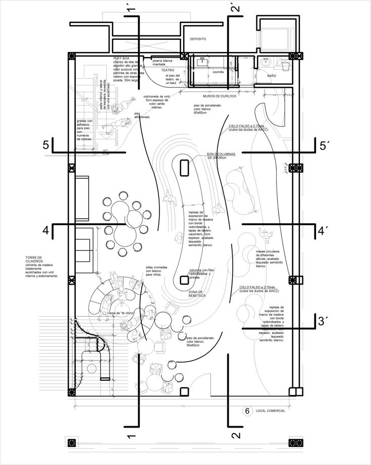Contemporary Toy Stores With Stunning Interiors: Floor Plan Of Luxurious Toy  Store Interior Design Ideas
