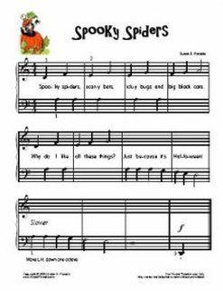 Halloween Sheet Music for kids!