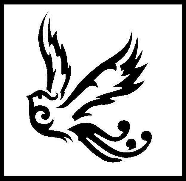 Tribal style bird. If you would like this as a tattoo or for any other non-profit use, feel free to do so, and send a pic