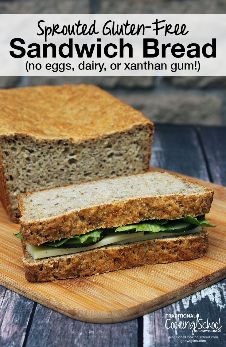 Sprouted Gluten-Free Sandwich Bread | It's *HARD* to find healthy, gluten-free sandwich bread, isn't it? Look no further! This nutrient-dense, sprouted gluten-free sandwich bread has that warm, yeasty smell and taste that you expect from homemade bread -- with NO dairy, eggs, or xanthan gum! | TraditionalCookingSchool.com