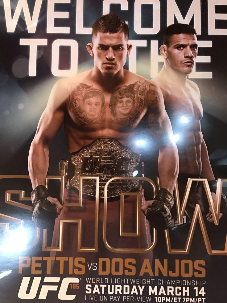 UFC 185 poster Pettis vs. Dos Anjos PPV