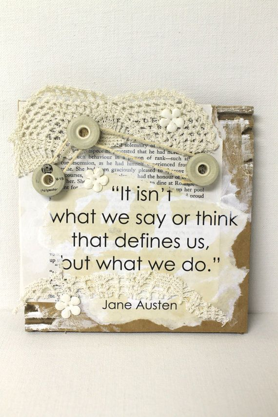 Jane Austen Quote Collage