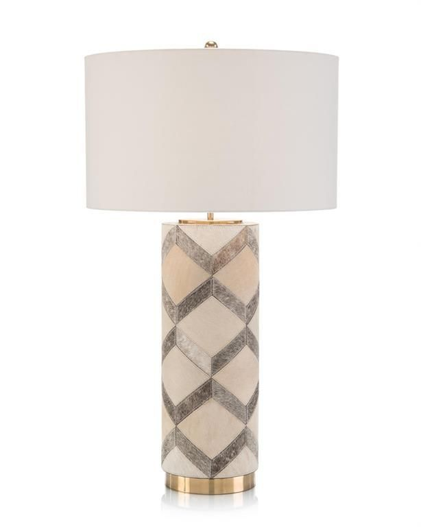 Hair On Hide Patterned Table Lampdefault Title In 2021 Table Lamp Lamp Table