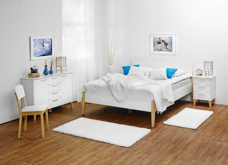 Laulumaa Huonekalut - Makuuhuone - Laulumaa Olivia® - luonnonvärinen koivu/valkoinen
