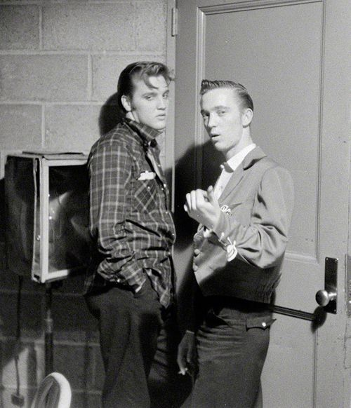 Elvis Presley with his cousin Gene Smith