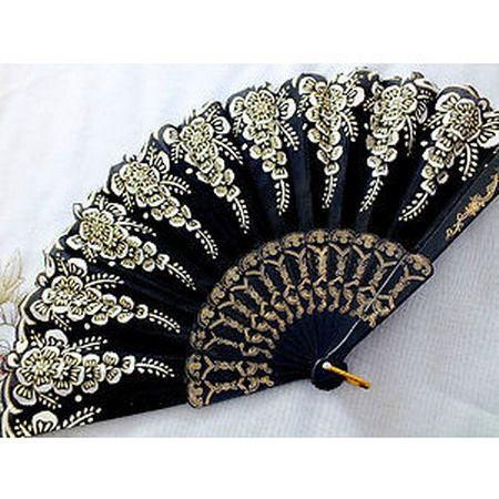 >y< Spanish Flamenco hand fan More
