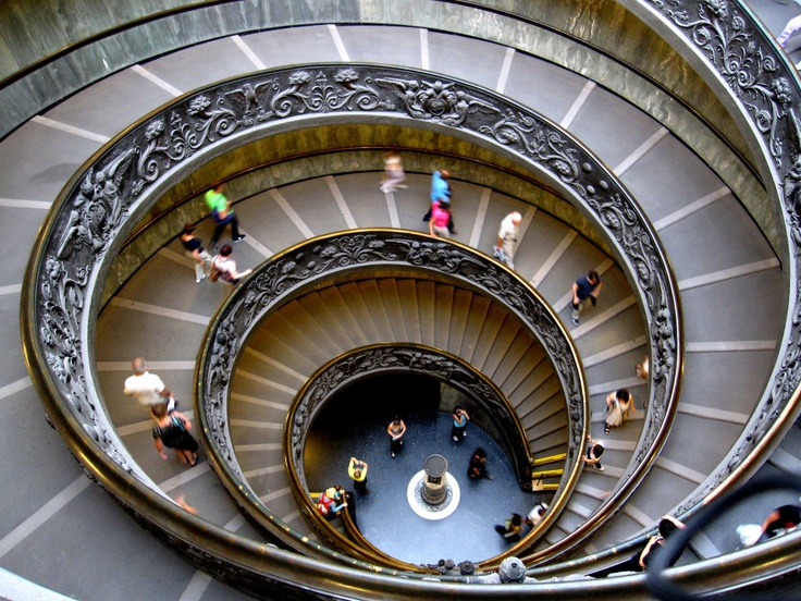 Vatican City: Spiraling stairs