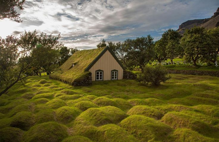 Little church made from wood and peat, iceland photo | XTREME Photos