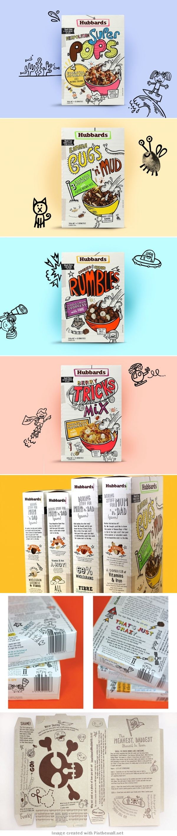 "Nobody liked my ""Bugs n Mud"" #packaging so here's more cute Hubbards Kids Cereal : ) PD"