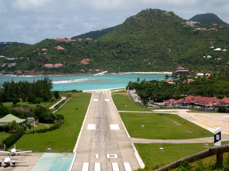 St Barth's Airport, one of the smallest and prettiest airports around.
