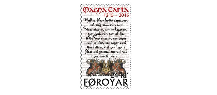 COLLECTORZPEDIA: Faroe Islands Stamps Magna Carta 800 Years