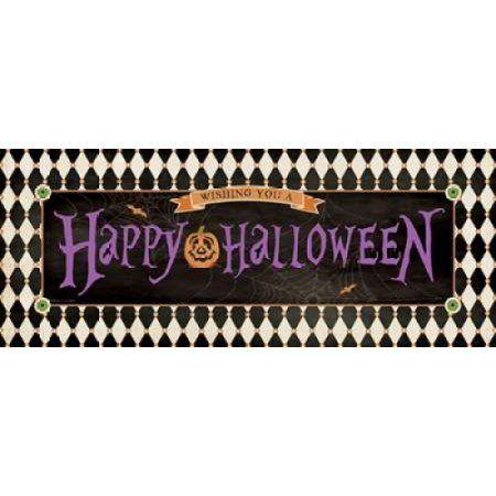 Happy Halloween II Canvas Art - Stephanie Marrott (10 x 20)