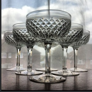 Crystal Coupe Glasses Ebay