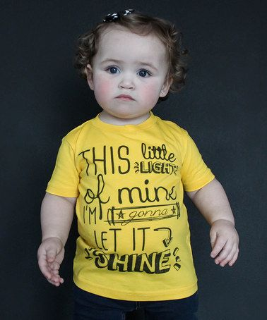 Look what I found on #zulily! Yellow 'Let It Shine' Tee - Infant, Toddler & Kids by The Talking Shirt #zulilyfinds