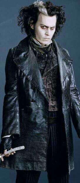 Johnny Depp as Benjamin Barker (aka Sweeney Todd) in 'Sweeney Todd: The Demon Barber of Fleet Street' in 2007.
