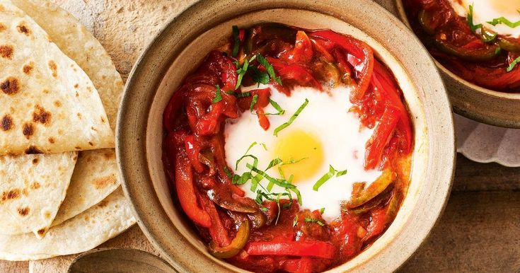North Africans, especially Tunisians, love waking up to eggs with capsicum and chilli.