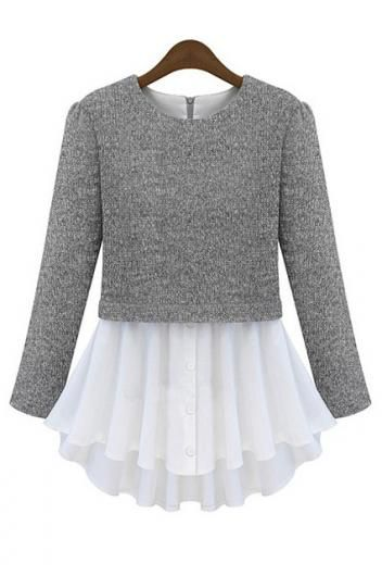 """Layer a cropped refashioned sweater over a full bottom shirt or make a """"skirt"""" for a sweater and sew together"""