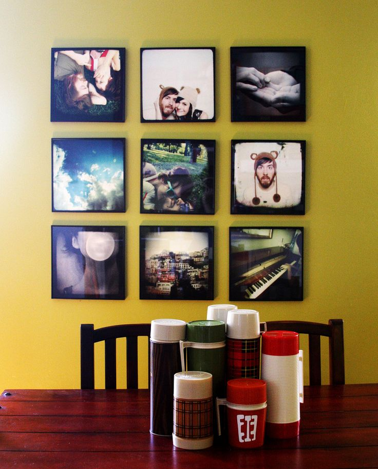 cuteDisplay Photos, Dining Room, Wall Decor, Photos Collage, Living Room, Photos Wall, Photos Display, Wall Display, Pictures Frames