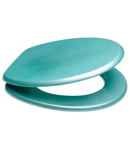 Glittering Toilet Seat | Wide choise of toilet seats | High-Quality surface | Stable Hinges (Turquoise)