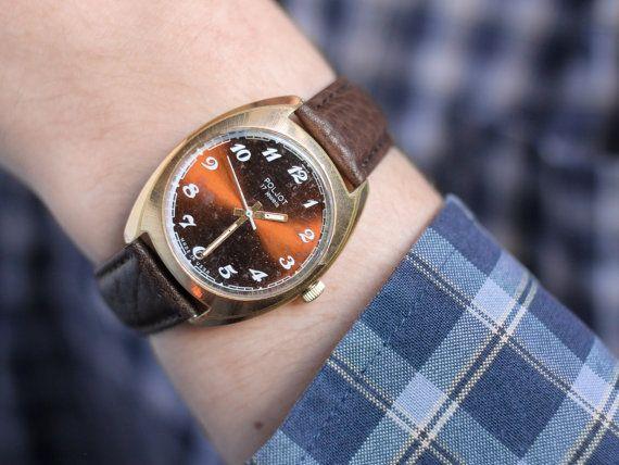 Men's watch Poljot gold plated vintage watch