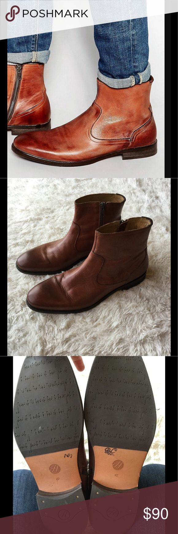 H London Hudson Plant Boots Awesome Boots! Great Condition! These retail for over $200....Great Craftsmanship with premium leather........European Size 42 H London Hudson  Shoes Boots