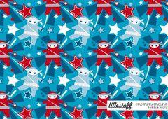 Lillestoff NINJAS Limited edition GOTS jersery knit 50cm x 150cm