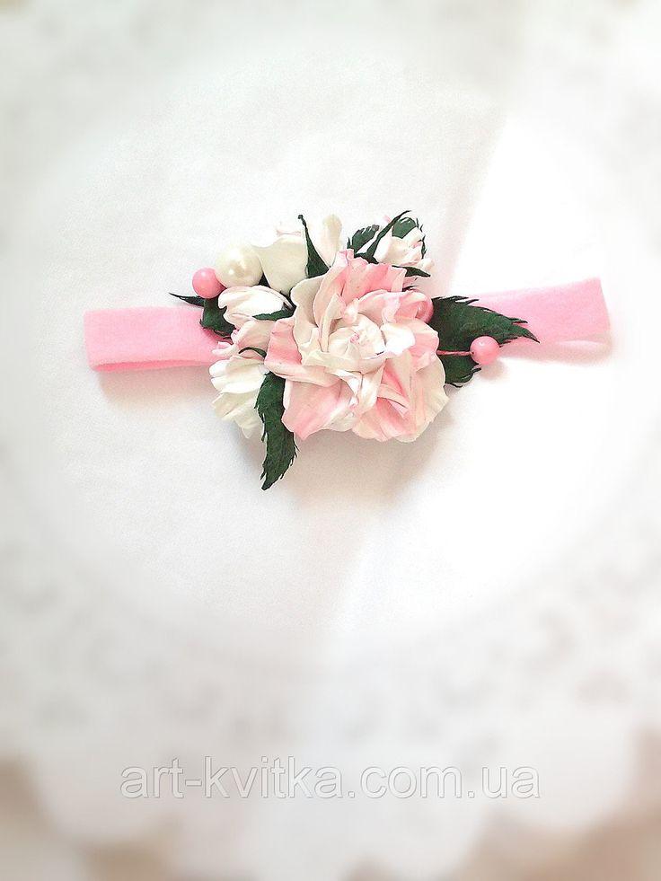 #Повязка с цветком на голову для девочки, # детская повязка на голову, цветы из фоамирана, детские украшения, детские вещи ,#kids headband, #flower crown, kid's flower headband, flower jewlery, foamiran flowers, heandmade jewelery
