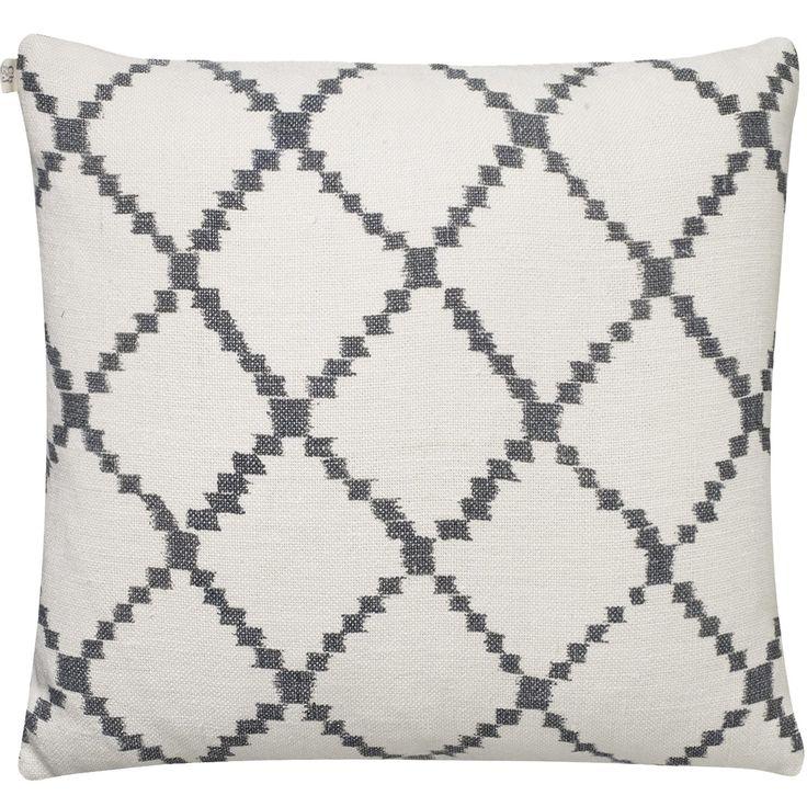 Ikat Kerela tyynynpäällinen M, valkoinen/harmaa ryhmässä Tekstiilit / Viltit & Koristetyynyt / Koristetyynyt @ ROOM21.fi (131437)