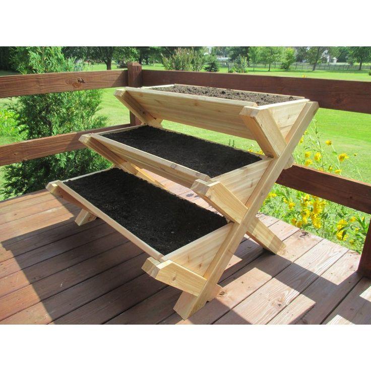 InfiniteCedar Cascading Cedar Vertical Garden | Wayfair ...