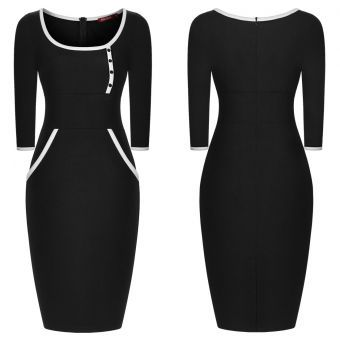 Our dresses are made with the customer\'s satisfaction and fit in mind.This dress is made from  fine blend of cotton,lycra and polyester to give it that bodycon fit that flatters and accentuates every lady\'s curves.
