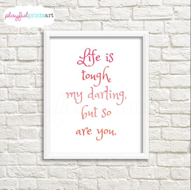Inspirational Quote Print, 8x10, Instant Download by playfulprintsart on Etsy