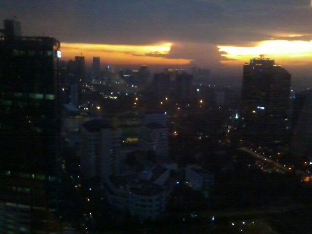 Sunset from 31th Floor Jakarta Indonesia