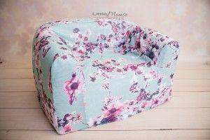 Pokrowiec kwiaty Newborn posing couch