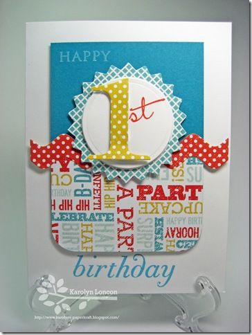 die cut birthday card