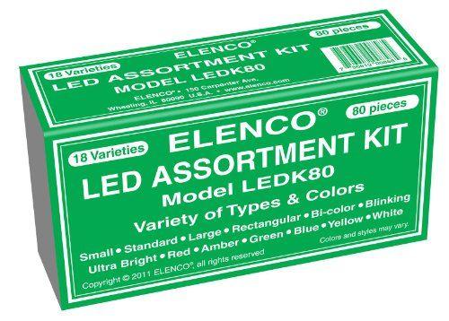 Elenco Electronics LEDK-80 80 pc LED Component Kit Elenco