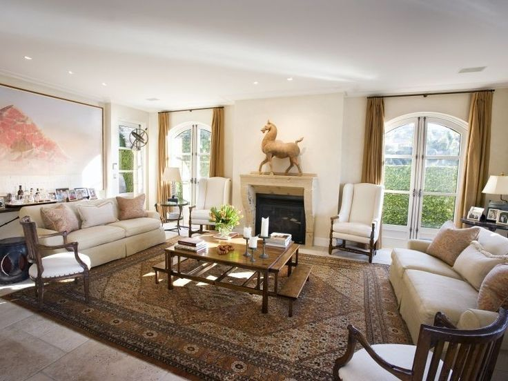 french provincial, country style living room - http://www ...